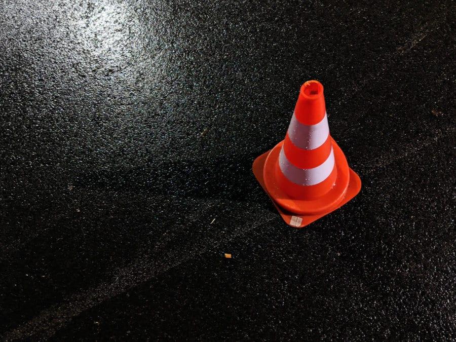 Dopravní kužel - odškodnění dopravní nehody